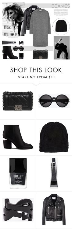 """""""Beanielove"""" by canvas-moods ❤ liked on Polyvore featuring Chanel, Yves Saint Laurent, Alexander Wang, Wommelsdorff, Butter London, Grown Alchemist, Envi: and Acne Studios"""