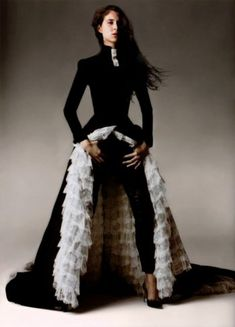 Givenchy by Alexander McQueen, Haute Couture Spring-summer 1999.