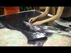 Валяние жакета с цельноваляным рукавом. Отчет с мастер класса на Сахалине. - YouTube