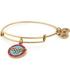 Wonder Woman Logo Bracelet | ALEX AND ANI in Rafaelian Gold Finish