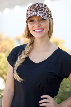Cheetah Lace Baseball Hat - These darling lace hats are such a fun way to top off your outfit!