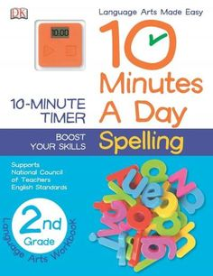 Help develop spelling skills at home with worksheets appropriate for second graders, featuring exercises on plurals, silent letters, contractions, doubling letters, and more in 10 Minutes a Day: Spell