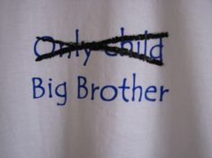 Big brother tee shirt by ragstorichesknitting on Etsy, $15.00