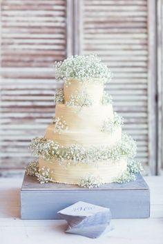 Baby's Breath Buttercream Wedding Cake