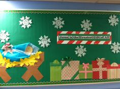 Cute Christmas bulletin board by the wonderful Mrs. Lindsay