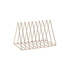 Deservedly-So Copper Or Gold Magazine Rack ($36) ❤ liked on Polyvore featuring home, home decor, small item storage, filler y copper home decor