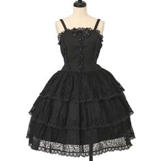 ♡ ALICE and the PIRATES ♡ Lace Noir jumper skirt http://www.wunderwelt.jp/products/detail12275.html ☆ ·.. · ° ☆ How to order ☆ ·.. · ° ☆ http://www.wunderwelt.jp/user_data/shoppingguide-eng ☆ ·.. · ☆ Japanese Vintage Lolita clothing shop Wunderwelt ☆ ·.. · ☆