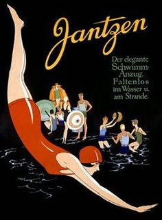 Jantzen Diving Swim Wear Poster. Artist Unknown.
