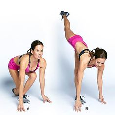 Runner's extension | Butt exercises that help you get a great rear view with these moves that lift and tone your glutes. Learn how to shape and tone your booty with Brooke Burke-Charvet.