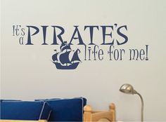 Pirate Ship Wall Decal - Vinyl Stickers Art Graphics Words Lettering on Etsy, $22.00