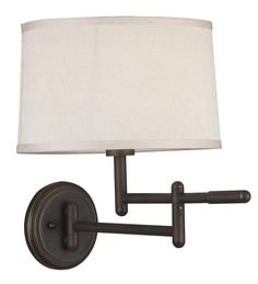 Wall Mounted bedside Lamp | ... Space-Saving Swing-Arm Wall-Mounted Reading Lamp - Plow & Hearth