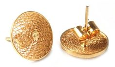 Amazon.com: Gold plated filigree stud earrings, 'Starlit Sun' - Handcrafted Gold Plated Button Earrings: Clothing