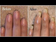 Going From Short Nails To Long Natural Nails 3 Month Nail Growth - YouTube
