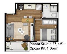 Small Apartment Interior, Apartment Layout, Apartment Design, Home Room Design, Small House Design, Home Design Plans, Studio Apartment Floor Plans, Apartment Plans, Small House Plans