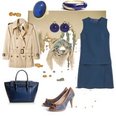 vestido-azul-marino-con-beige-5.jpg (600×600)