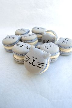 catarons - macarons in cat shape - For all your Cat cake decorating supplies, please visit http://www.craftcompany.co.uk/catalogsearch/result/?q=cat