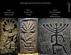 We & Alíens: ancient Mexico, Siberia, Russia & India ; 7 headed serpent figure comparisons