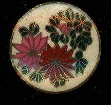 A floral Satsuma Button by AntiqueButtons4u on Etsy