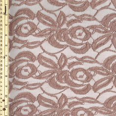 Mauve Cotton Lace Fabric by the Yard Wedding Bridal by LaceFabrics, $11.00