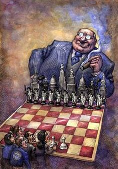 "bankster-chess...What characterizes the Anglo-American imperial system is the ""abundance of money"" coupled with an extensive military and intelligence apparatus.  Both conditions complement one another such that ineffective economic sanctions, for instance, can be compensated by greater military intervention, and vice versa.  In other words, the threat of military intervention supports economic objectives. Conversely, market manipulation is often used to destabilize countries, i.e. through…"