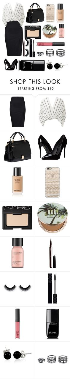 """Black and white"" by aliciadelgado on Polyvore featuring beauty, Free People, Miu Miu, Dolce&Gabbana, Casetify, NARS Cosmetics, Urban Decay, Perricone MD, Marc Jacobs and Gucci"
