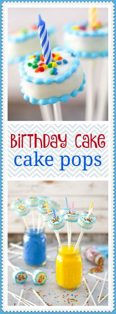 Celebrating a birthday? These birthday cake - cake pops are just the way to get the party started!