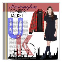 """Fred Perry Tartan Harrington Jacket Re-issue"" by annette-heathen ❤ liked on Polyvore featuring women's clothing, women, female, woman, misses, juniors, fredperry and bomberjackets"