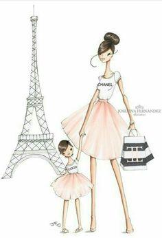 mom and a cutie in paris