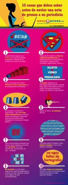 10 consejos antes de enviar una nota de prensa #infografia #infographic #marketing
