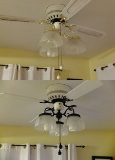 Rustoleum Oil Rubbed Bronze Spray Paint - brought my 90s ceiling fan into this century! Love this stuff...