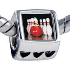 Pugster Silver Plated Photo Bead Bowling Pins Beads Fits Pandora Bracelet Pugster. $11.24. Bracelet sold separately. Unthreaded European story bracelet design. Fit Pandora, Biagi, and Chamilia Charm Bead Bracelets. It's the photo on the heart charm. Hole size is approximately 4.8 to 5mm. Save 10%!