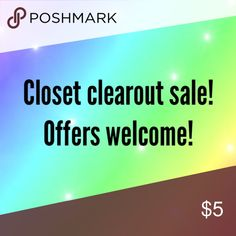OFFERS WELCOME ✨🌙⭐️ Closet clear-out sale! Restocking closet Sunday and Monday. Everything must go! 🌟 Reasonable offers welcome. Bundle offers accepted. 🌙⭐️ Levi's Other