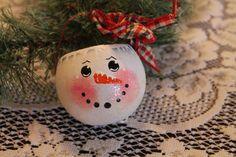 Snowman Gourd Tea Light Holders...Tree by CraftsByJoyice on Etsy