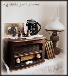 vintage radio - my shabby white home