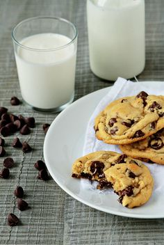 New York Times Chocolate Chip Cookie recipe (supposed to be the best).  I've made the cookie dough and tasted it before I put it in the fridge and it's delicious. I can't image baking them could change anything but make it even better with a chewy goodness to boot.  Yum!!  Just what my addiction needed....