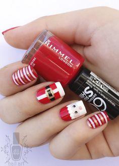 """This is definitely my favorite red polish """"double decker red"""" by Rimmel London Las primeras uñas navideñas del año! Yay! Este es mi esmalte ..."""