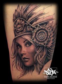 ed5a4dafe3161 23 Best Aztec Girl Tattoos images | Female tattoos, Feminine tattoos ...