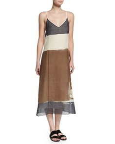 Mucca Sleeveless Screen-Print Dress, Ivory Cream by THE ROW at Neiman Marcus.