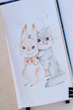 #кролик_и_котик #rabbitandcat
