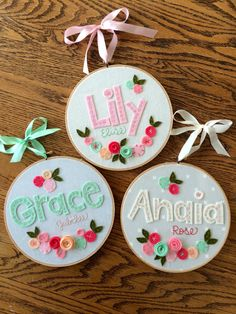 8 FELT NAME with FLOWERS Personalized Girl's por MissTweedleCrafts