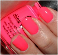 China Glaze 'Pool Party' great summer color