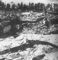 Current state of the Krema II gas chamber at Auschwitz