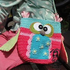 Pattern ~ Owl+purse++crochet+pattern+purse+DIY+by+VendulkaM+on+Etsy,+$5.30