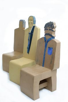 Cardboard Furniture! Do you think it's safe to take a seat? #chairjunky | http://attheoffice.com