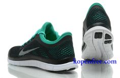 Goedkoop Schoenen Nike Free 3.0 V5 Heren (kleur:vamp-zwart;binnenkant-groen;logo en zool-wit) Online Winkel.