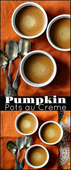 Pumpkin Pots au Creme, a delicious Fall treat.Rich, decadent and French inspired, this is an easy pumpkin dessert recipe that's perfect for entertaining.  via @lannisam