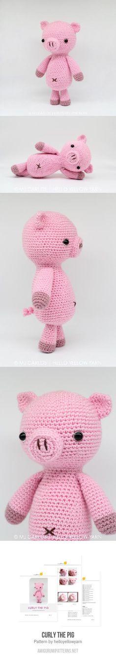 Curly The Pig Amigurumi Pattern