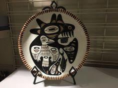 Lambert Potteries Vancouver Canada Pottery Dish #NorthWestCoastFirstNations #5 Raven inside Killer Whale.