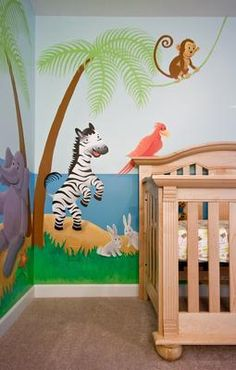1000 images about nursery decor ideas on pinterest for Baby boy mural ideas