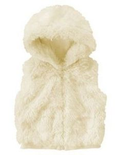 GYMBOREE-WINTER-SNOWFLAKE-IVORY-FUR-HOODED-VEST-12-24-NWT